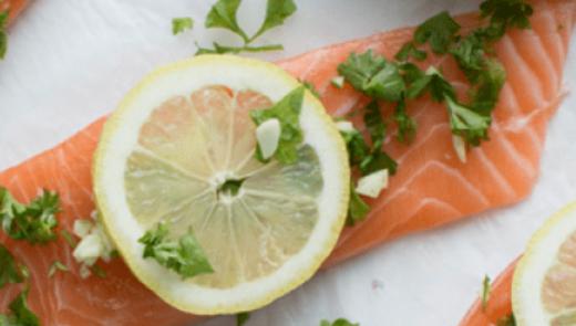 salmon lemon